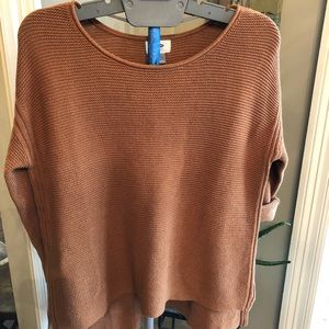 Old Navy orange high low sweater
